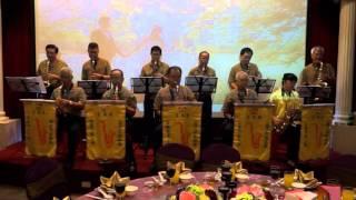宜蘭市老人會薩克斯風團迎賓演奏