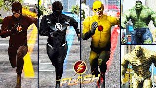 Team Flash VS. Team Hulk (GTA 5 Ultimate Flash Mod)