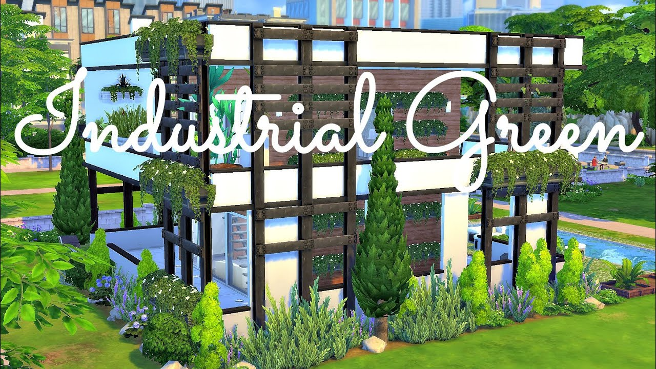 sims 4 house build industrial green youtube - Industrial House 2016