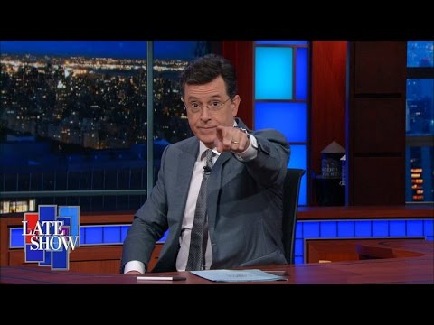 Stephen Colbert Takes The Gloves Off: Gun Control