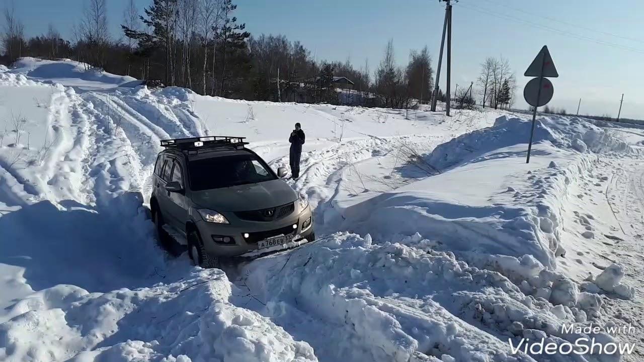 уаз патриот на 35х vs ховер на 33х в снегу
