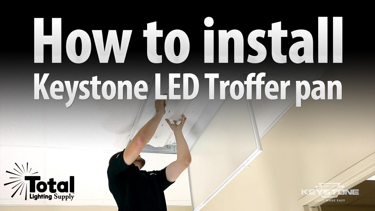 how to install the keystone led retrofit troffer pan by keystone & total  bulk lighting