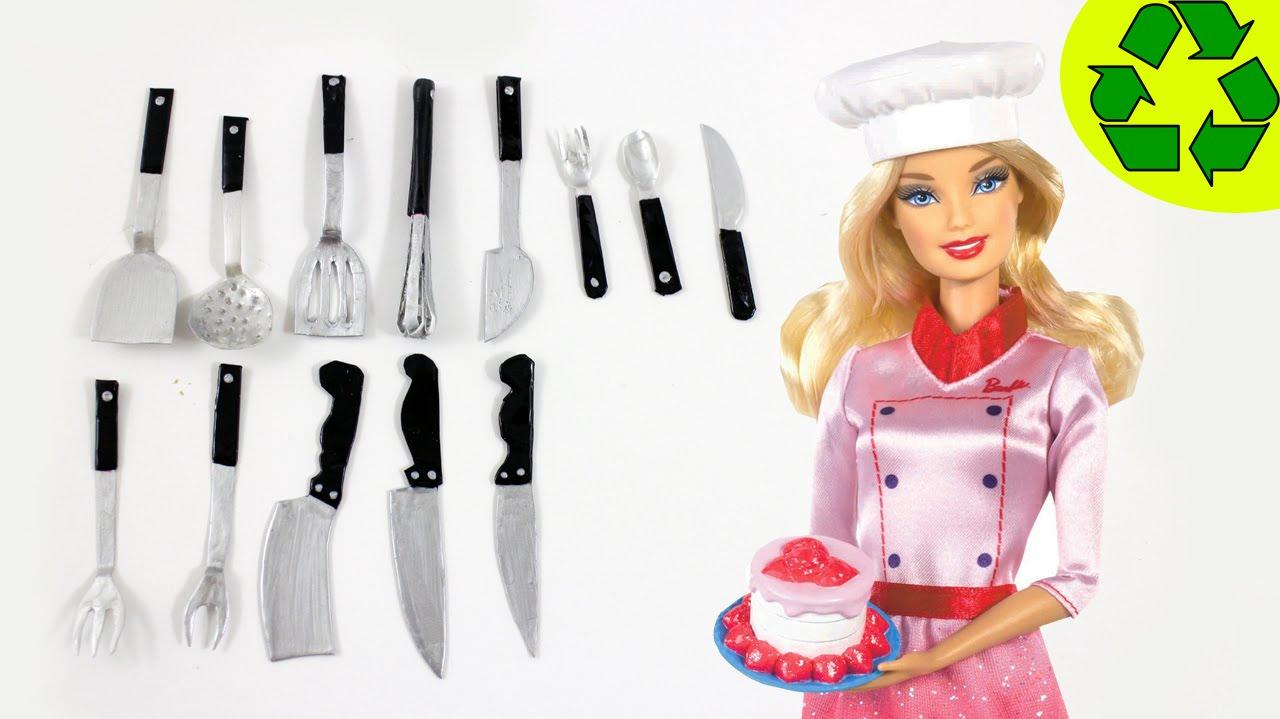 Diy miniature realistic kitchen utensils cutlery - Cosas para cocina ...
