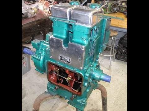 Lister Petter SR2 Cleaning Painting And Polishing
