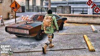 GTA 5 ZOMBIE APOCALYPSE MOD - TREVOR'S EIGHTH DAY!! (GTA 5 MODS) 1970 charger