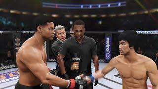 Muhammad Ali vs. Bruce Lee (EA Sports UFC 2) - CPU vs. CPU - Crazy UFC 👊🤪