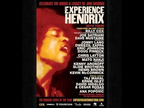 'Experience Hendrix Tour' 2019 feat. Megadeth's Dave Mustaine, Joe Satriani, Eric Johnson and more..