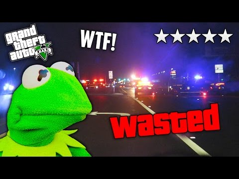 GTA 5 5-Star Wanted Level in Real Life! KERMIT, HIDE THE DRUGS!