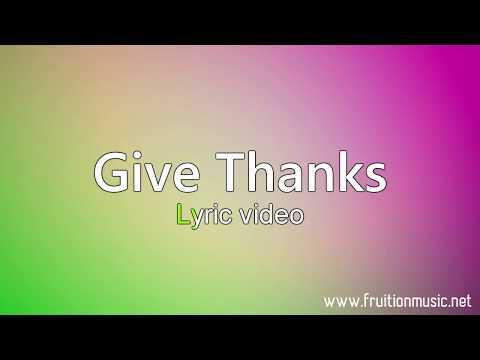 Give Thanks (Medium Key) [Instrumental with Lyrics]