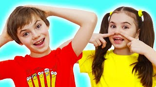 Head, Shoulders, Knees & Toes - Exercise Song for children - 동요와 아이 노래 | 어린이 교육 | Nick and Poli