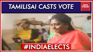 BJP's Tamilisai Soundararajan Casts Vote In Chennai | Lok Sabha Elections