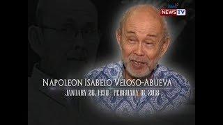 SONA: National artist at premyadong eskultor na si Napoleon Abueva, pumanaw na sa edad na 88