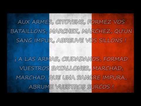 Himno de Francia - LA MARSELLESA (Letra en francés y en español) | LA MARSEILLAISE