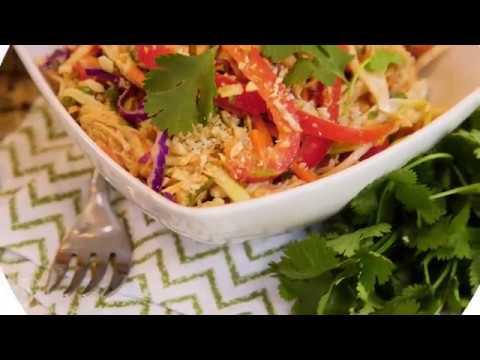 Twisted Thai Salad with Peanut Dressing