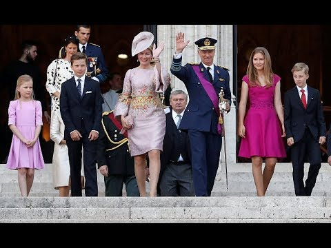 Happy National Day! Belgium's King Philippe and Queen Mathilde in Brussels