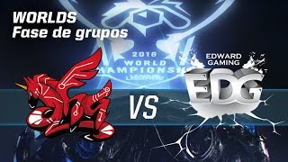 AHQ E-Sports Club VS Edward Gaming - #worldsLVP6 - World Championship 2016 - Fase de grupos 6