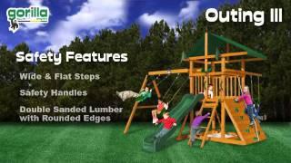 Swing Sets For Backyards - Outing III Swing Set