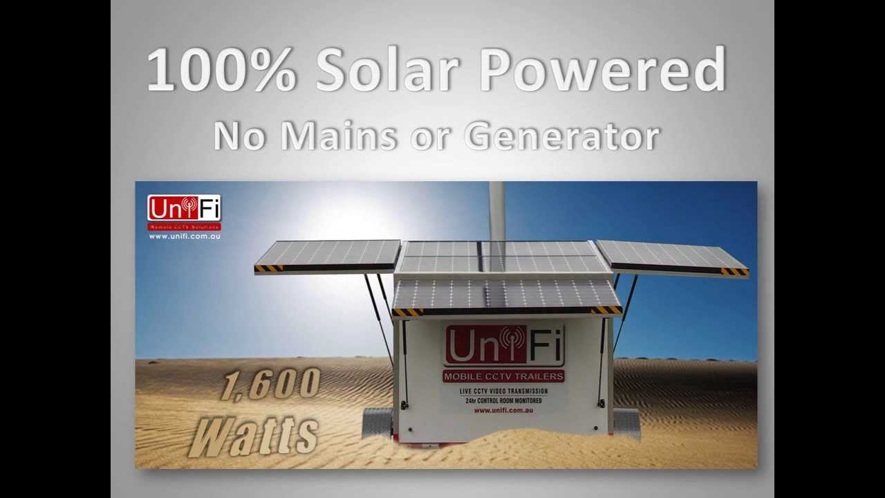 Mobile Cctv Trailer 100 Solar Powered Youtube
