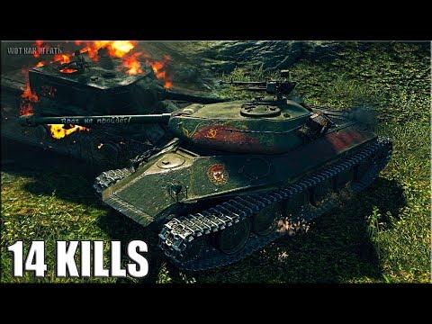 14 ФРАГОВ за бой на ЗАЩИТНИКЕ ? медаль героев Расейняя ? World of Tanks бой на прем тт 8 уровень thumbnail