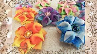 Круглые бантики из лент своими руками/DIY Ribbon Bows