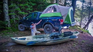 Truck Tent Camping DËEP in the Woods! (Off-Grid)