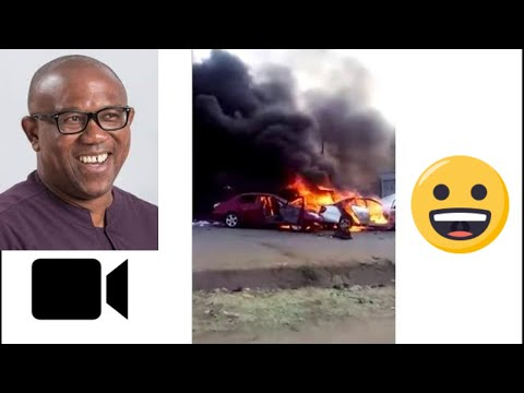 PETER OBI ESCAPES AS THUGS SET HIS CONVOY ON FIRE