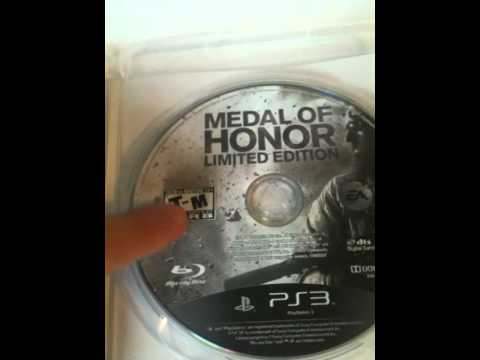 PS3 Gaming Blog: Unboxing - Medal of Honor: Limited Edition