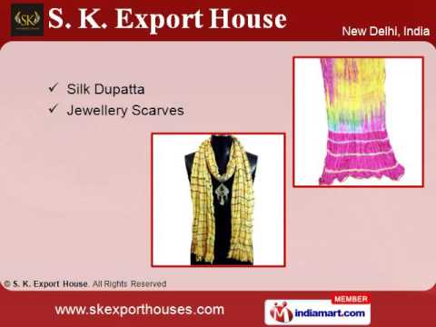 Dyed And Cotton Dupatta By S. K. Export House, New Delhi