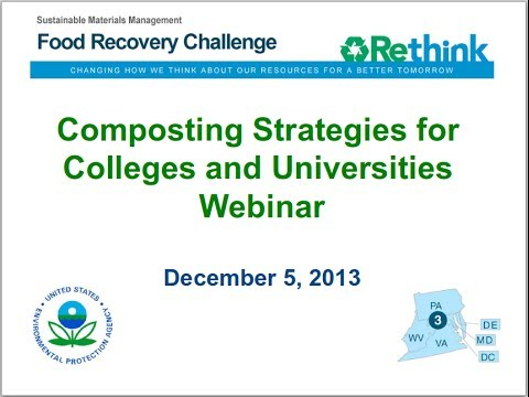 Composting Strategies for Colleges and Universities