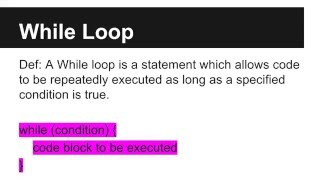 JAVA Programming Tutorials - While Loop - 10