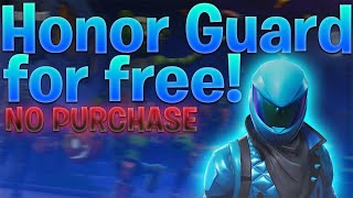 How to Get HONOR GUARD Skin codes for FREE (read description)