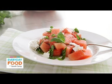 Watermelon and Feta Salad Everyday Food with Sarah Carey