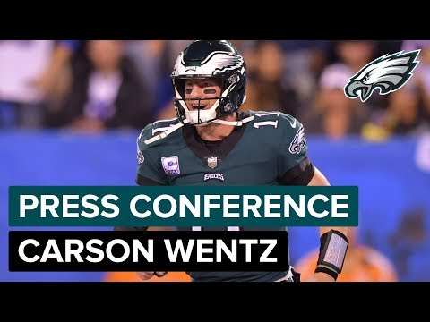 QB Carson Wentz: Eagles Are Finally Settling In  Eagles Press Conference