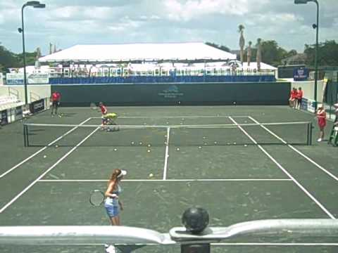Cardio Tennis Demonstration during the Sarasota Open at the Longboat Key Club in Sarasota, Fl