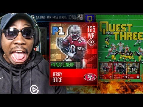 PULLED 125 OVR JERRY RICE IN RETRO QUEST FOR 3 PACK OPENING! Madden Mobile 18 Gameplay Ep. 52