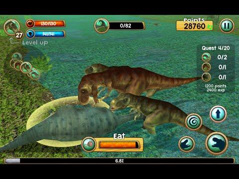 Tyrannosaurus Rex Sim 3D - Android / iOS - Gameplay