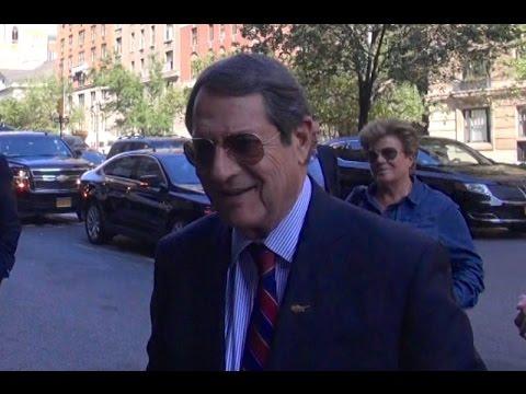 Cyprus President Anastasiades Arrives in NYC ahead of critical UN week