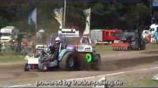 Tractor Pulling with Dragon Fire first Full Pull