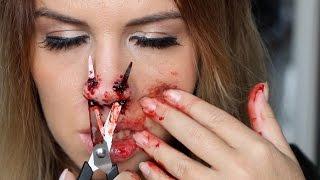 Maquillage Effets Spéciaux : Nez Cisaillé