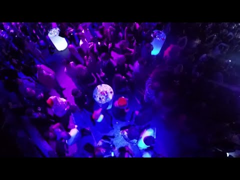 New Year's Party Aerial View Stock Video