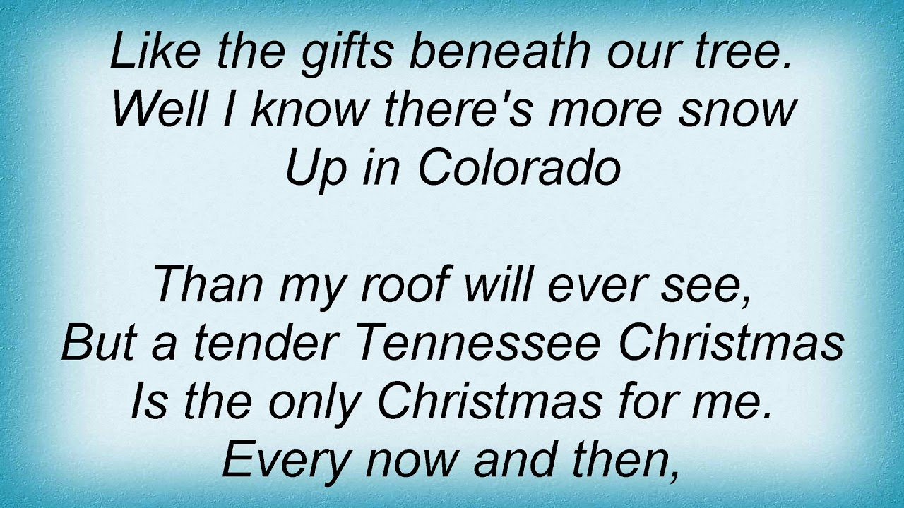 Amy Grant - Tennessee Christmas Lyrics - YouTube