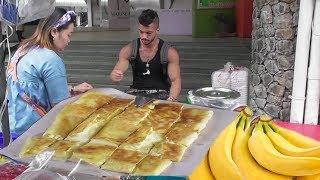 Egg Banana Pancake ( Roti ) | Most Popular Healthy Bangkok Street Food