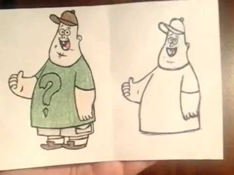 Как нарисовать Зуса (Гравити Фолз)?)))