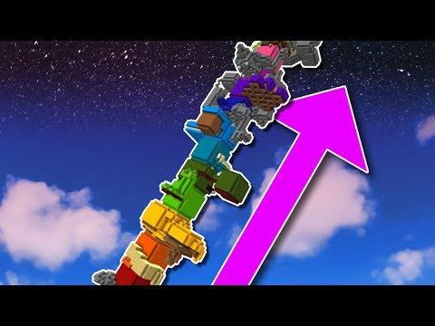 Minecraft: Never Ending Rainbow Tower