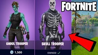 "Fortnite FRIDAY THE 13TH HALLOWEEN SKINS Should Be Added? ""SKULL TROOPER"" & ""GHOUL TROOPER"" SKINS!"