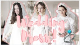 Wedding Dress Try On! Our MOM's Vintage Wedding Dresses!