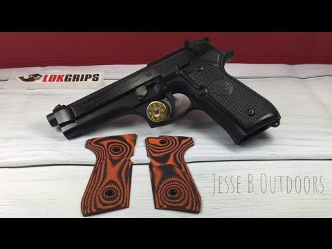 Beretta Grips vs Lok Grips checkered thin grips