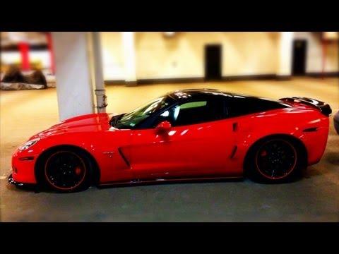Chevrolet Corvette c6 Z06 | Loud burnout in garage