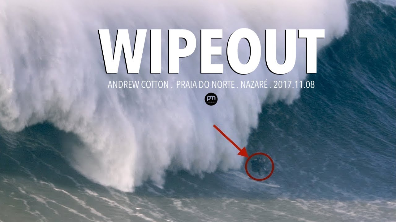 Andrew Cotton's HORRIFYING WIPEOUT on a MONSTER WAVE at Nazaré = Broken Back