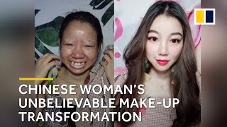 Chinese woman's unbelievable make-up transformation
